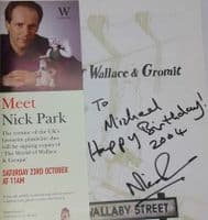 Andy Lane THE WORLD OF WALLACE AND GROMIT First Edition Signed by Nick Park